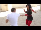 Ninja Girl vs Kickboxer Guy Fight Scene (Tekken - Streets of Rage Style)